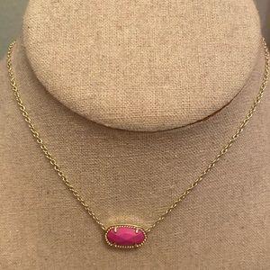 Kendra Scott Pink Elisa Necklace with bag